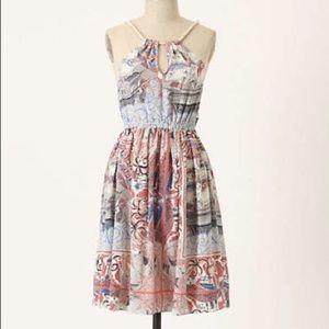 Floreat Anthropologie Nautical Silk Dress